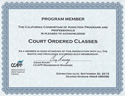 Criminal Behavior Modification Program Credentials